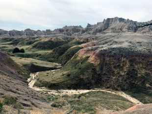 Badlands showing their colors in spring